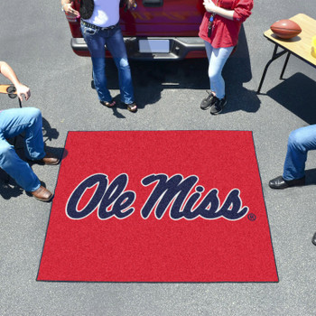 "59.5"" x 71"" University of Mississippi (Ole Miss) Red Tailgater Mat"