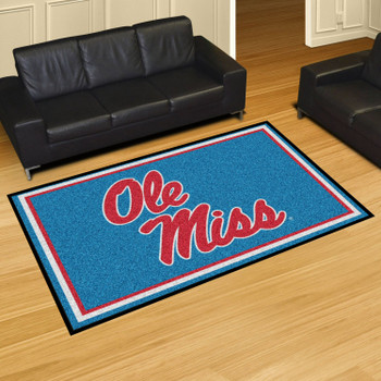 5' x 8' University of Mississippi (Ole Miss) Rectangle Rug