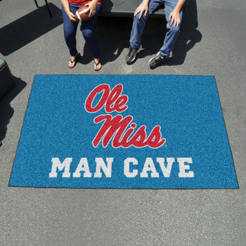 "59.5"" x 94.5"" University of Mississippi (Ole Miss) Man Cave Rectangle Ulti Mat"