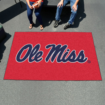 "59.5"" x 94.5"" University of Mississippi (Ole Miss) Red Rectangle Ulti Mat"