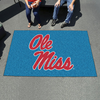 "59.5"" x 94.5"" University of Mississippi (Ole Miss) Rectangle Ulti Mat"