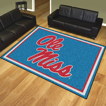 8' x 10' University of Mississippi (Ole Miss) Rectangle Rug