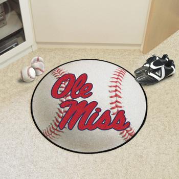 "27"" University of Mississippi (Ole Miss) Baseball Style Round Mat"