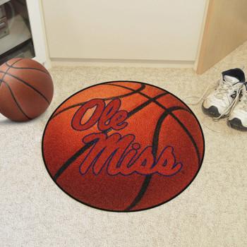 "27"" University of Mississippi (Ole Miss) Basketball Style Round Mat"