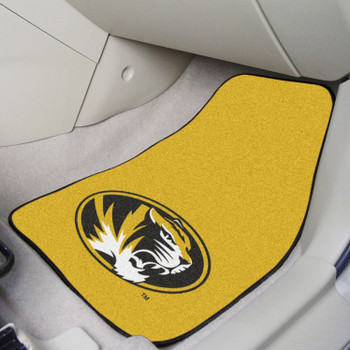 University of Missouri Yellow Carpet Car Mat, Set of 2