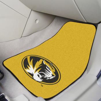 University of Missouri Yellow Carpet Car Mat, Set of 2