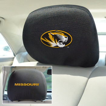 University of Missouri Car Headrest Cover, Set of 2