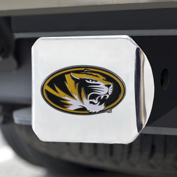 University of Missouri Color Hitch Cover - Chrome