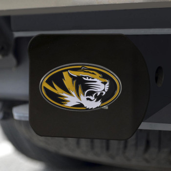 University of Missouri Hitch Cover - Color on Black