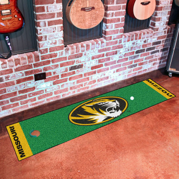 "18"" x 72"" University of Missouri Putting Green Runner Mat"