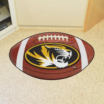 "20.5"" x 32.5"" University of Missouri Football Shape Mat"
