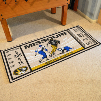"30"" x 72"" University of Missouri Ticket Rectangle Runner Mat"