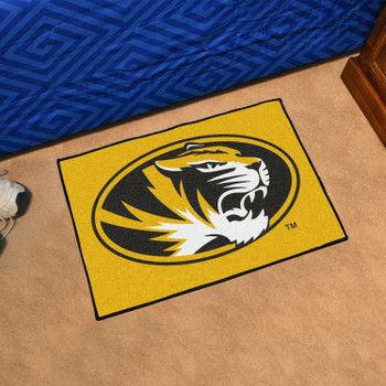 "19"" x 30"" University of Missouri Yellow Rectangle Starter Mat"