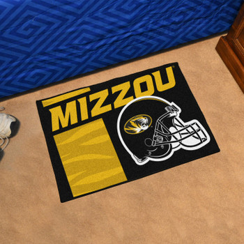 "19"" x 30"" University of Missouri Uniform Black Rectangle Starter Mat"