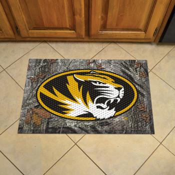 "19"" x 30"" University of Missouri Rectangle Camo Scraper Mat - ""Oval Tiger"" Logo"
