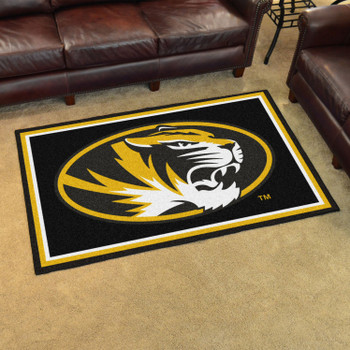 4' x 6' University of Missouri Black Rectangle Rug