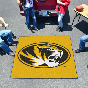 "59.5"" x 71"" University of Missouri Yellow Tailgater Mat"