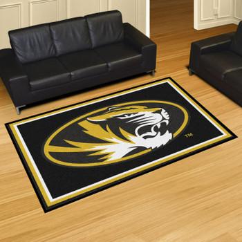 5' x 8' University of Missouri Black Rectangle Rug