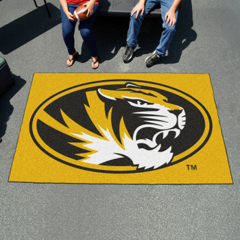 "59.5"" x 94.5"" University of Missouri Yellow Rectangle Ulti Mat"