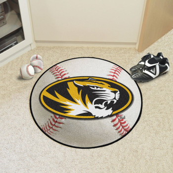 "27"" University of Missouri Baseball Style Round Mat"