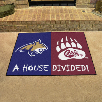 "33.75"" x 42.5"" Montana / Montana State House Divided Rectangle Mat"