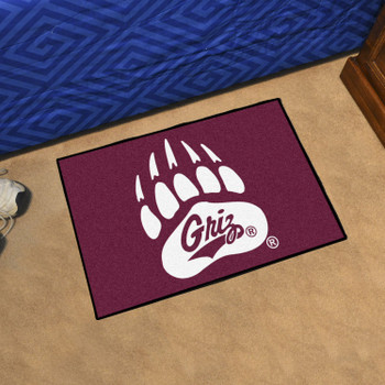 "19"" x 30"" University of Montana Maroon Rectangle Starter Mat"