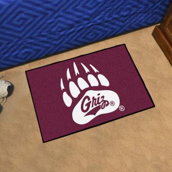 "19"" x 30"" University of Montana Maroon Rectangle Starter Mat"