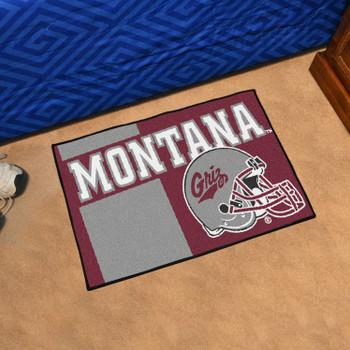 "19"" x 30"" University of Montana Uniform Maroon Rectangle Starter Mat"