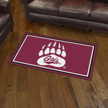 3' x 5' University of Montana Maroon Rectangle Rug
