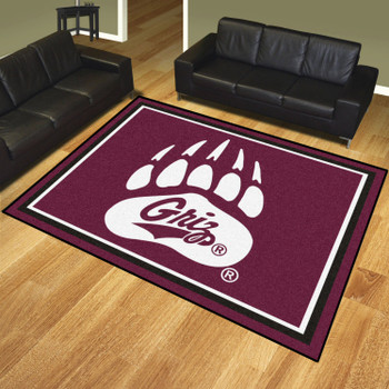 8' x 10' University of Montana Maroon Rectangle Rug