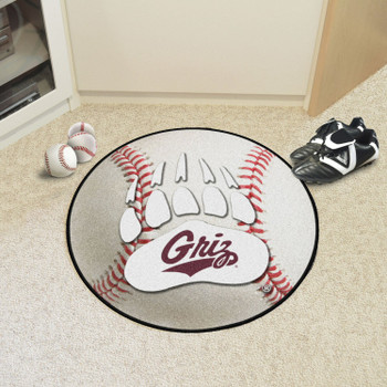 "27"" University of Montana Baseball Style Round Mat"