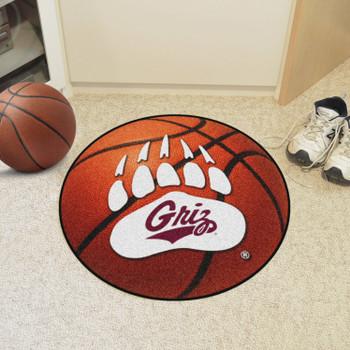 """27"""" University of Montana Basketball Style Round Mat"""