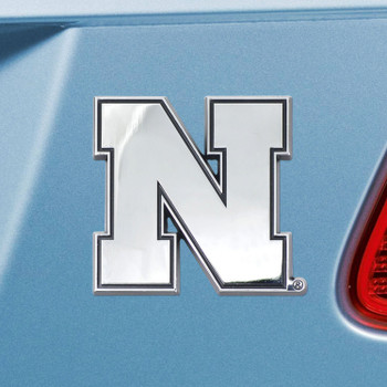 University of Nebraska Chrome Emblem, Set of 2