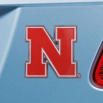 University of Nebraska Red Color Emblem, Set of 2