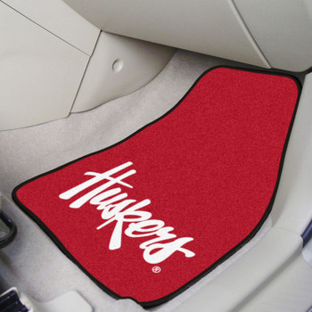 University of Nebraska Carpet Car Mat, Set of 2