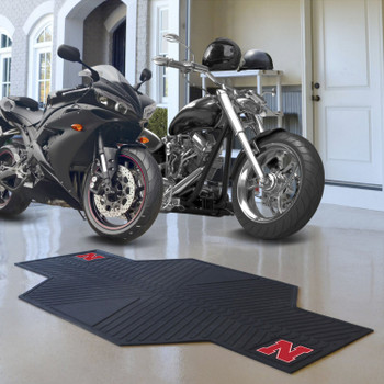 "82.5"" x 42"" University of Nebraska Motorcycle Mat"