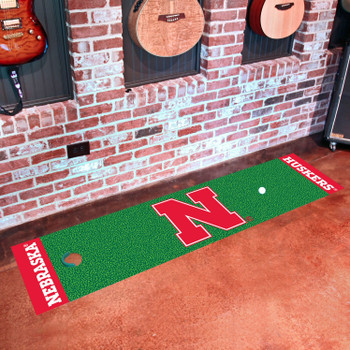 "18"" x 72"" University of Nebraska Putting Green Runner Mat"