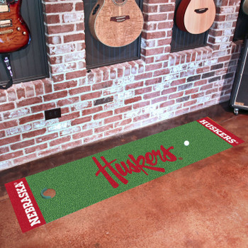 "18"" x 72"" University of Nebraska Huskers Logo Putting Green Runner Mat"