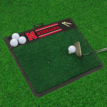"20"" x 17"" University of Nebraska Golf Hitting Mat"