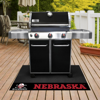 "26"" x 42"" University of Nebraska Black Grill Mat"