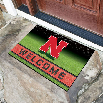 "18"" x 30"" University of Nebraska Crumb Rubber Door Mat"
