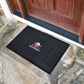 "19.5"" x 31.25"" University of Nebraska Blackshirts Logo Medallion Rectangle Door Mat"
