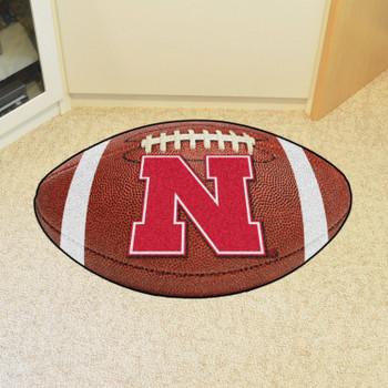 "20.5"" x 32.5"" University of Nebraska Football Shape Mat"