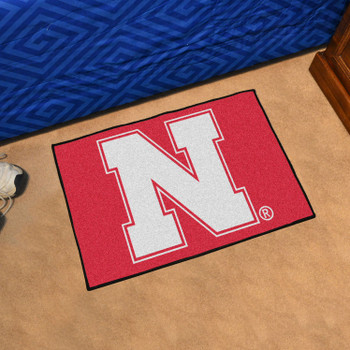 "19"" x 30"" University of Nebraska Red Rectangle Starter Mat"