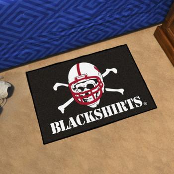 """19"""" x 30"""" University of Nebraska Black Rectangle Starter Mat"""