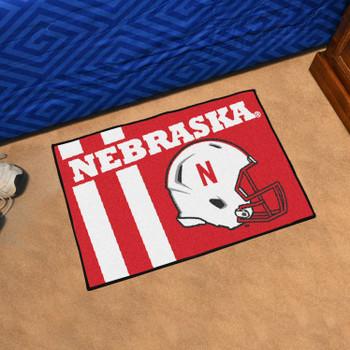 """19"""" x 30"""" University of Nebraska Uniform Red Rectangle Starter Mat"""