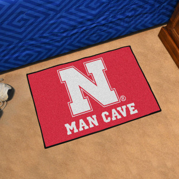 "19"" x 30"" University of Nebraska Red Man Cave Starter Rectangle Mat"