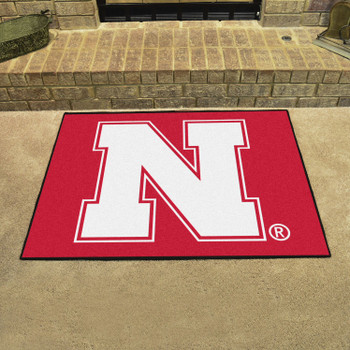 """33.75"""" x 42.5"""" University of Nebraska All Star Red Rectangle Mat"""
