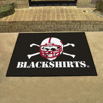 """33.75"""" x 42.5"""" University of Nebraska All Star Black Rectangle Mat"""