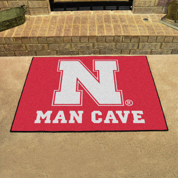 "33.75"" x 42.5"" University of Nebraska Red Man Cave All-Star Rectangle Mat"